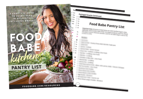 Food Babe Pantry List - Cover